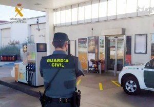 Dispositivo de vigilancia de la Guardia Civil.