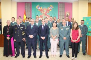 Condecorados en el acto de la Guardia Civil