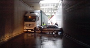Accidente en el túnel de la Estación